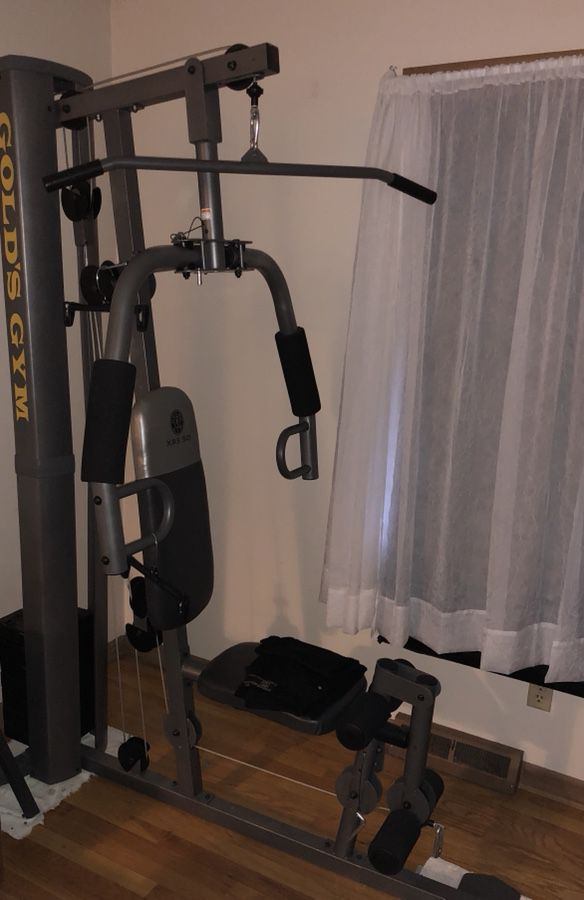 Gold s gym xrs home gym with high and low pulley system for