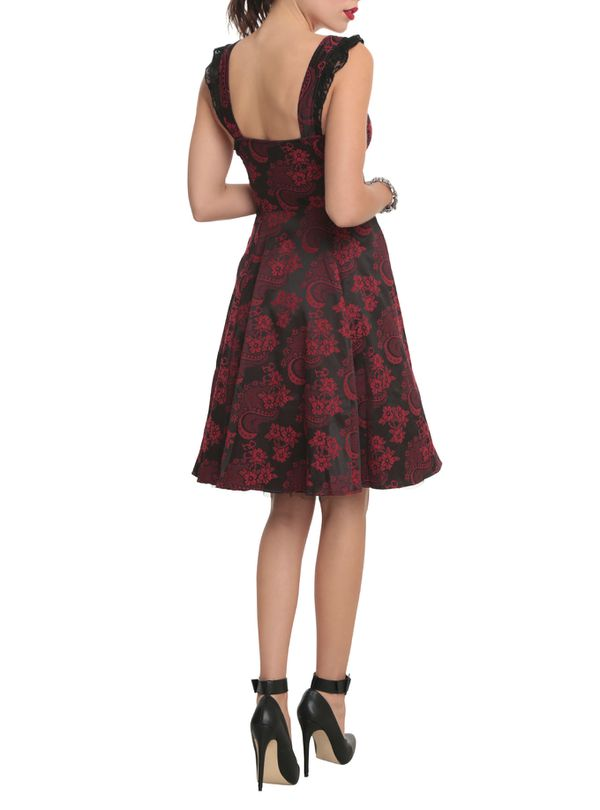 1915d91da8d Red and Black Brocade lace-up Dress for Sale in Los Angeles