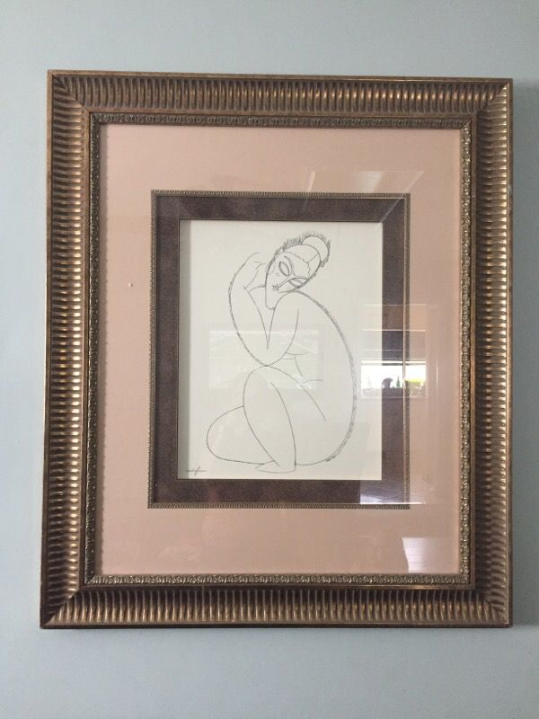 Mogliani art with gold leaf frame (Antiques) in Fort Lauderdale, FL ...
