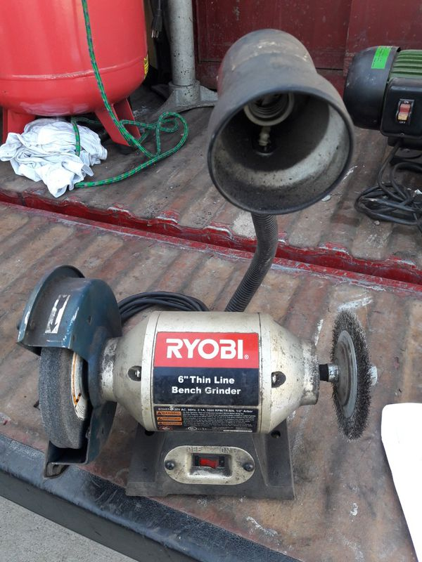 Prime 6Ryobi Thin Line Bench Grinder Bgh610 For Sale In Santa Ana Ca Offerup Andrewgaddart Wooden Chair Designs For Living Room Andrewgaddartcom