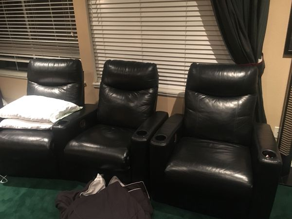 Leather theater recliners for Sale in La Verne, CA - OfferUp