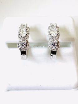 925 STERLING SILVER AND CZ EARRINGS AVAILABLE ON SPECIAL SALE  Thumbnail