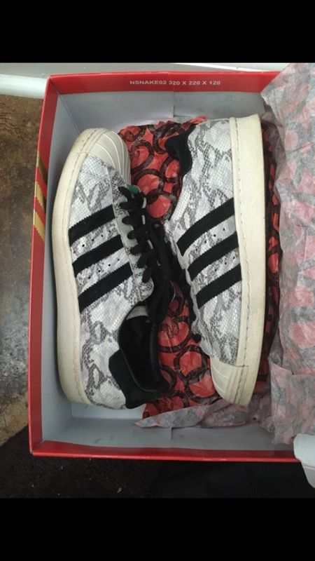 e08b773185b41 ADIDAS YEAR OF THE SNAKE SUPERSTARS CHINESE NEW YEARS PACK SZ 8.5 RETAIL  140 for Sale in Charlotte