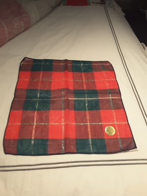 8 vintage holiday plaid pattern napkins for Sale in Houston, TX