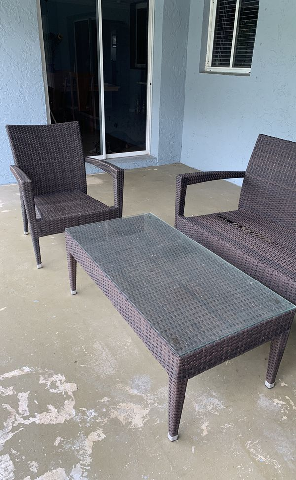 Used Patio Furniture No Cushions For