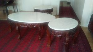 Coffee table with two small tables for Sale in Charlottesville, VA