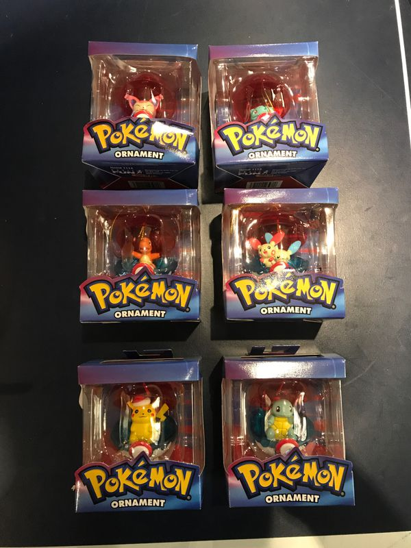 Pokemon Christmas Ornaments.All 6 Collectible Pokemon Christmas Ornaments For Sale In Vancouver Wa Offerup