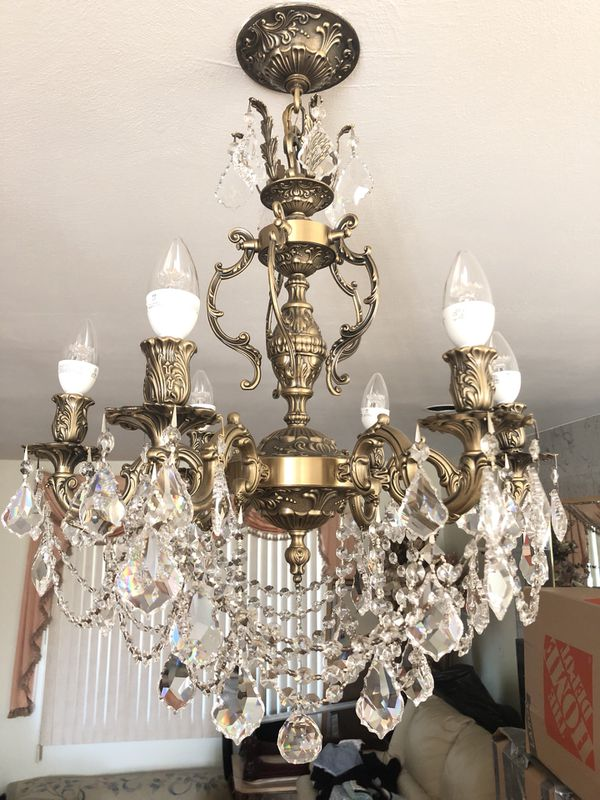 Brass antique chandelier excellent condition (Antiques) in Staten Island,  NY - OfferUp - Brass Antique Chandelier Excellent Condition (Antiques) In Staten