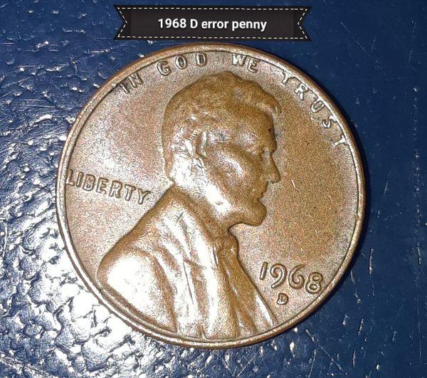 1968 d error penny for Sale in San Antonio, TX - OfferUp