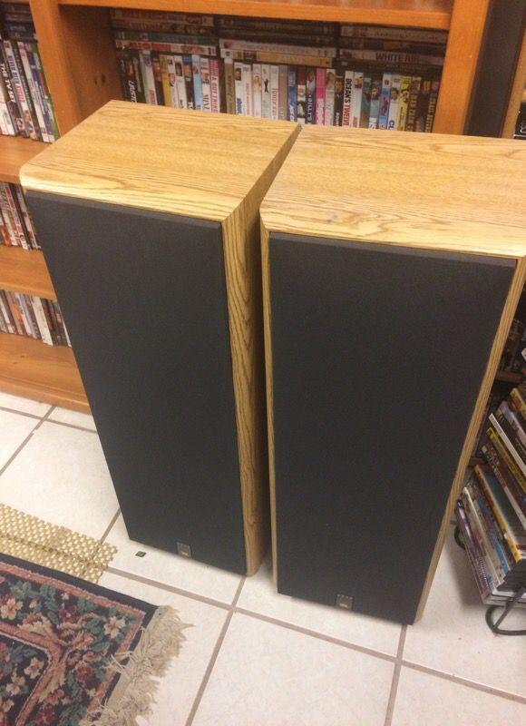 Pair Of Jbl 3800 3 Way Tower Floor Speakers Excellent