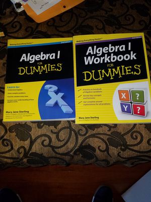 Algebra 1 For Dummies (With Workbook No Writing Inside) for Sale in Ashburn, VA