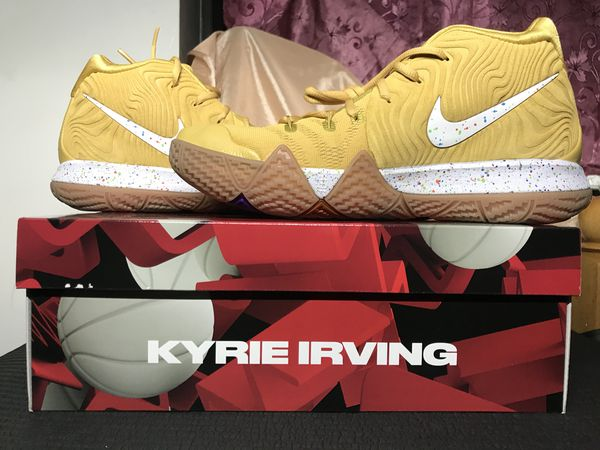 f2aaac04b2b Nike Kyrie 4 Cinnamon Toast Crunch Basketball Sneakers Shoes BV0426-900  Size 9