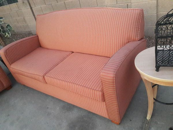 LIVING ROOM SET, orange color for Sale in Phoenix, AZ - OfferUp