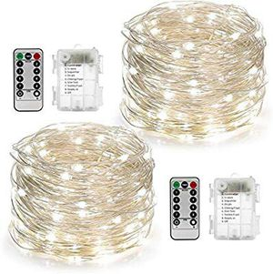 2 Set String Lights 8 Modes 50LED Fairy Lights Battery Operated 16.4FT Twinkle Lights Remote Timer Bedroom Patio Indoor Outdoor for Sale in Grand Prairie, TX