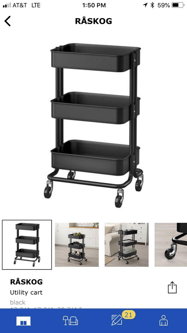 Ikea Raskog Utility Cart Black