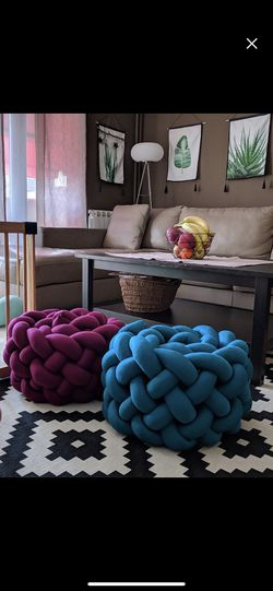 Giant knitted sitting stools(customizable) Thumbnail