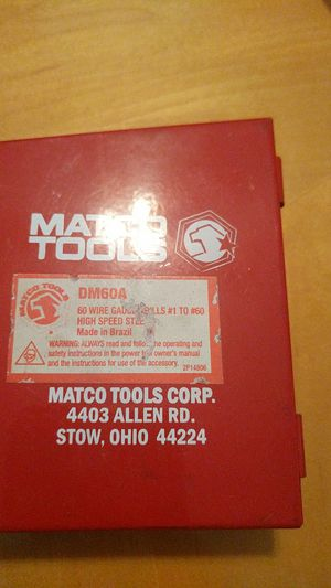 New and used drills for sale in boynton beach fl offerup matco tools 60pc wire gauge drill bit set for sale in wellington fl keyboard keysfo Images