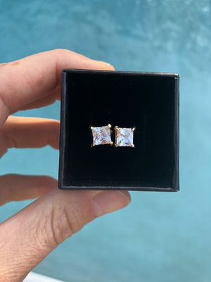 Gold plated CZ earrings, Engagement/ Wedding/Birthday for Sale in Miami, FL