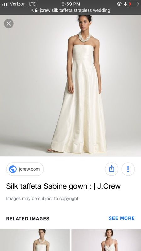 New J Crew Sabine Wedding dress size 10 for Sale in Apple Valley, MN ...