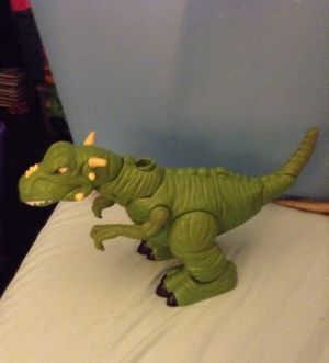 Fisher Price Imaginext Lost Creatures T-Rex Tyrannosaurus Rex Dinosaur(sounds, comes with horns on back) for sale  Ponca City, OK