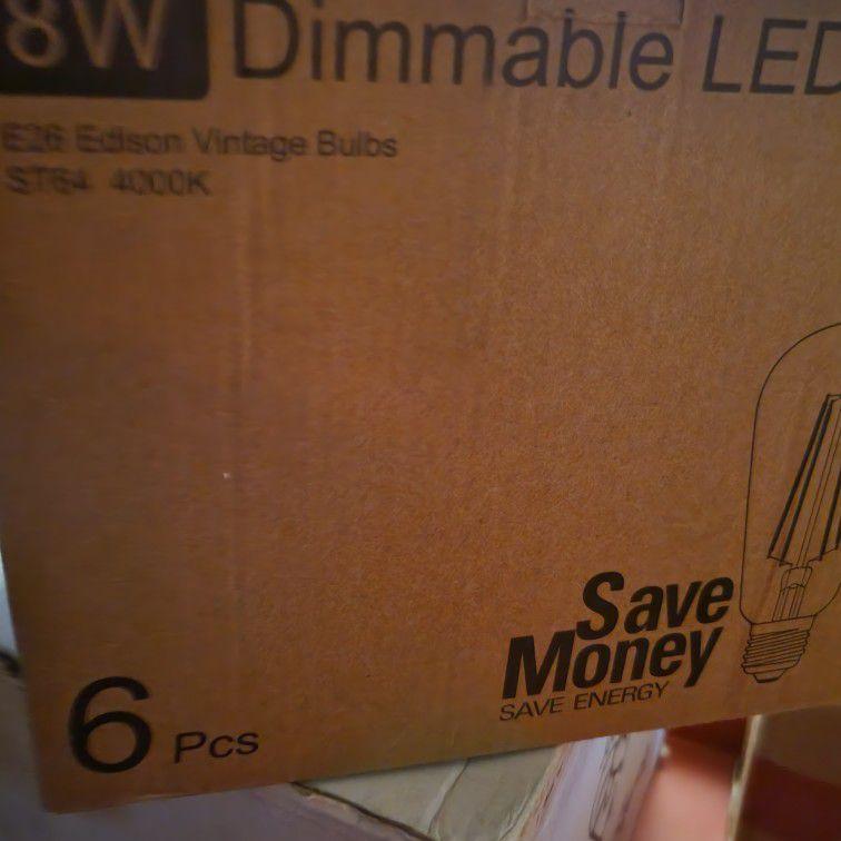 Edison Vintage Light Bulbs. 8w 40000k