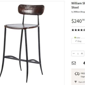 New Set Of 2 Genuine Leather Counter Bar Stools 26 For In Cincinnati Oh Offerup