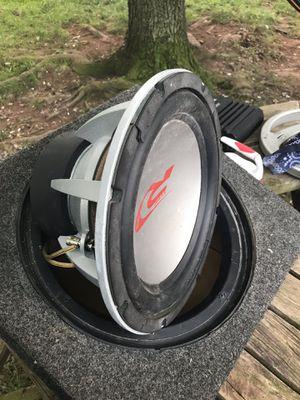 "Alpine 12"" 1000 watts con amplifier alpine for Sale in Sterling, VA"