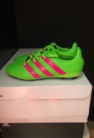 Photo Adidas soccer cleats. Youth size 2. Worn once
