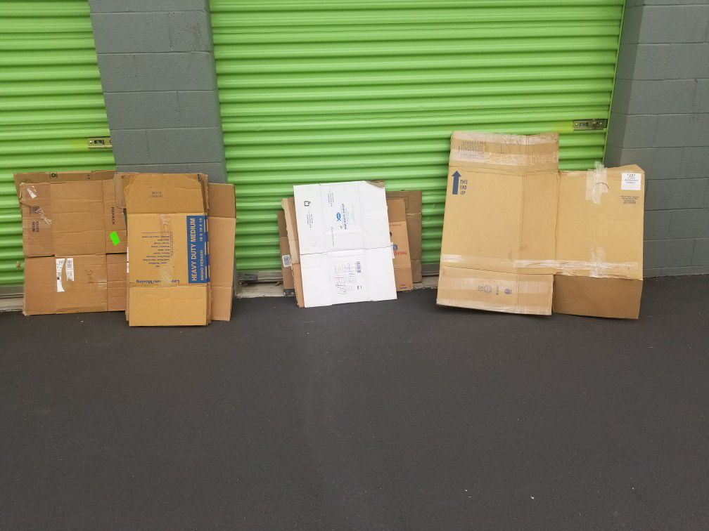 Lot Of 13 Moving Boxes