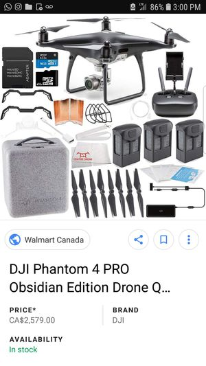 DJI PHANTOM 4 PRO OBSIDIAN BUNDLE PACK for Sale in Miami, FL
