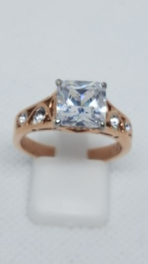 Size 10 princess cut rose gold wedding ring. Never tarnish. for Sale in St. Louis, MO
