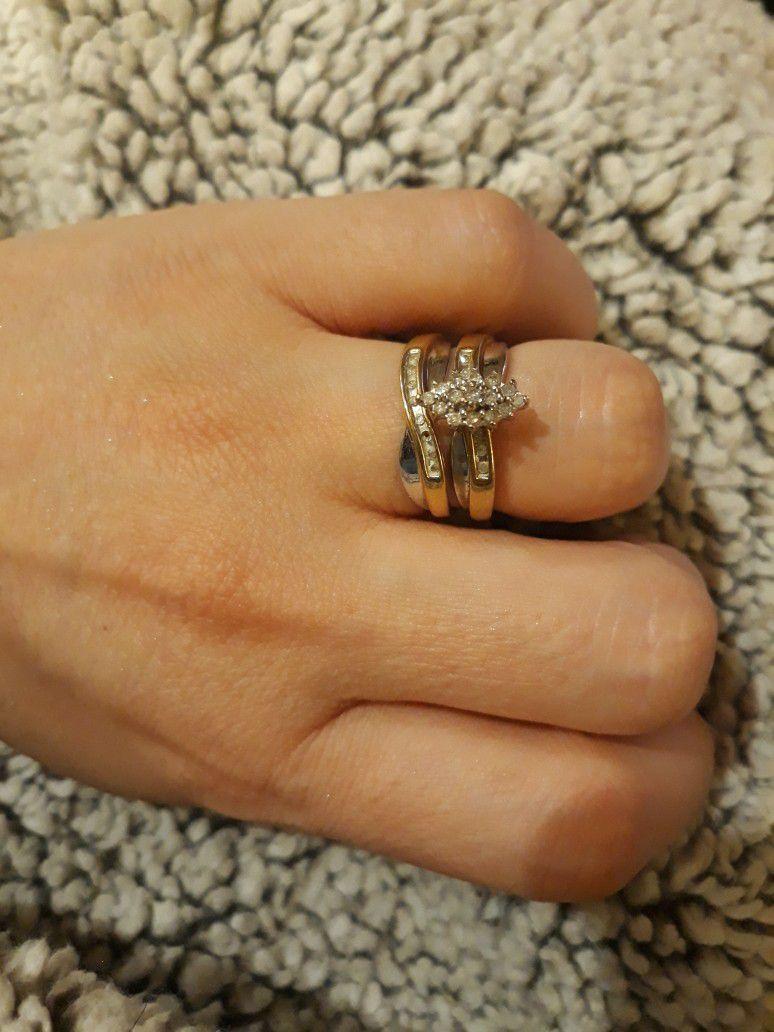 10k Gold Wedding Rings Sz7