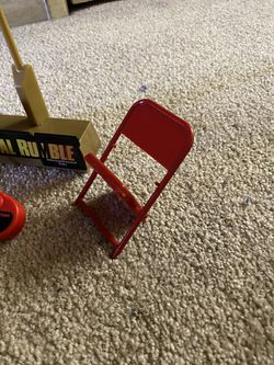 WWF Wrestling Toy Accessories 2 Chairs camera Royal Rumble Stand WWE ecw tna wcw aew Thumbnail