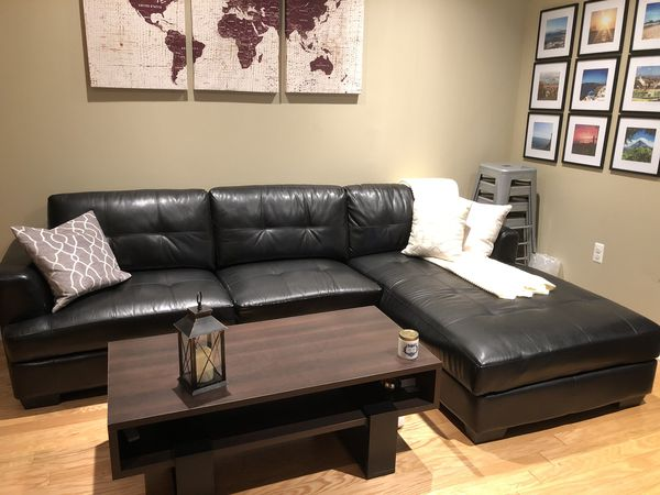 Prime Dobson Black Leather Sectional Sofa Couch For Sale In Gmtry Best Dining Table And Chair Ideas Images Gmtryco