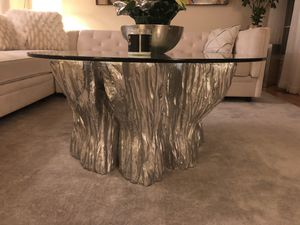 Silver Round glass table for Sale in Rockville, MD