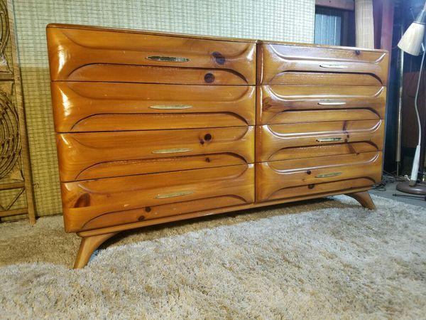 Mid Century Franklin Shockey Sculptured Pine Dresser for ...