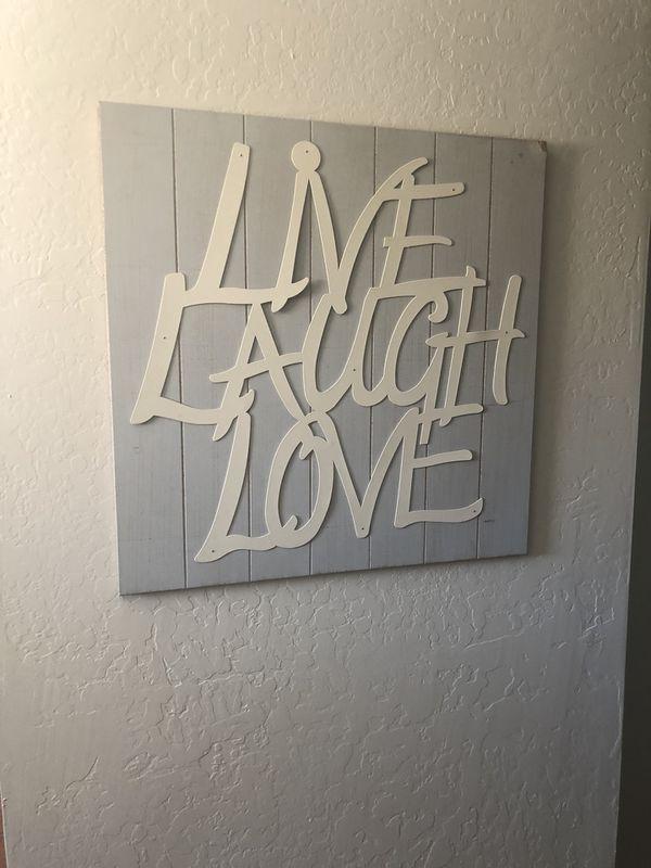 Live Laugh Love Wood Wall Decor For Sale In Phoenix AZ