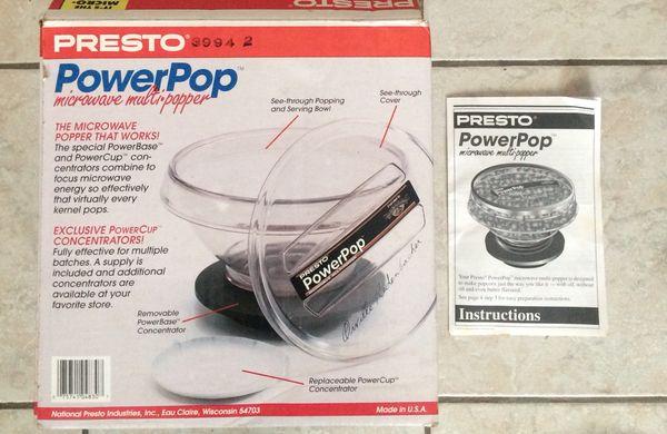 Orville Redenbacher Presto Microwave Power Pop For Sale In Lehigh