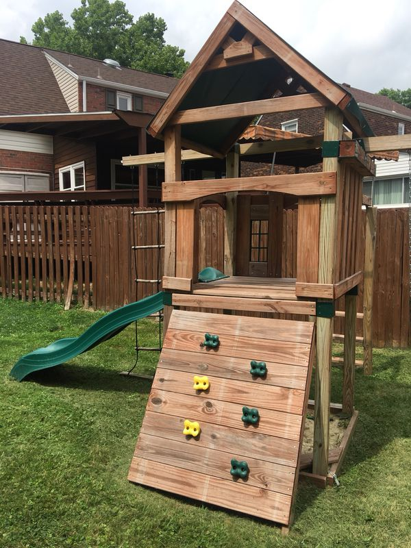 Swing Set From Home Depot Built 2 Yrs Ago Still In Very Good
