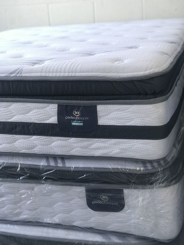 Queen Perfect Sleeper Luxury Hybrid Glenmoor Super Pillow Top Mattress