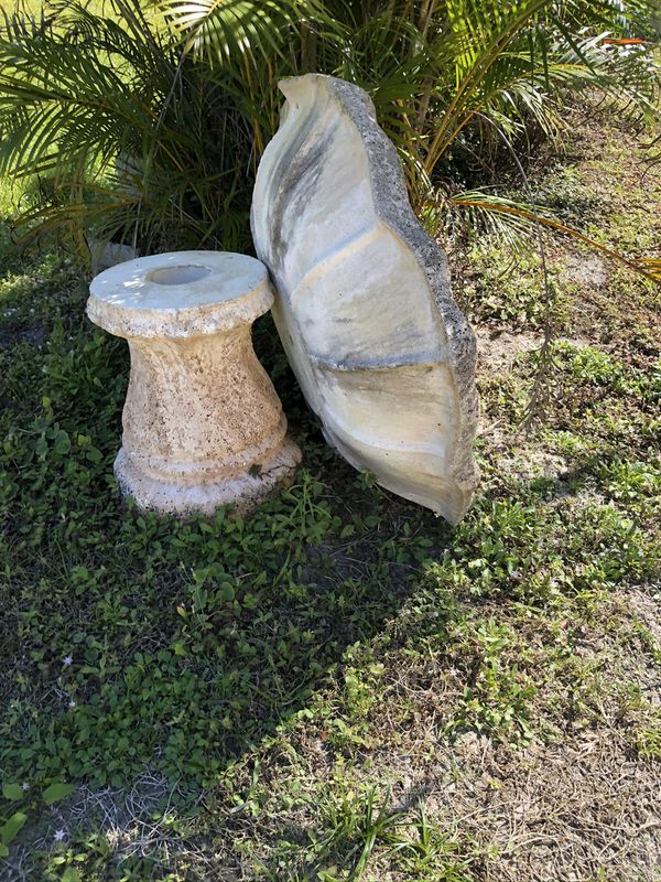 Large Coral Stone Bird Bath Or Planter For Sale In Port St