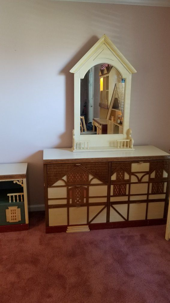 8 piece singer dollhouse bedroom set for sale in charlotte, nc - offerup