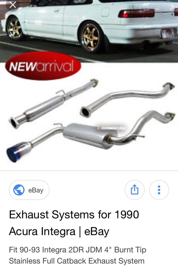 Acura Integra New Axle Back Muffler For Sale In Las Vegas - 1990 acura integra muffler