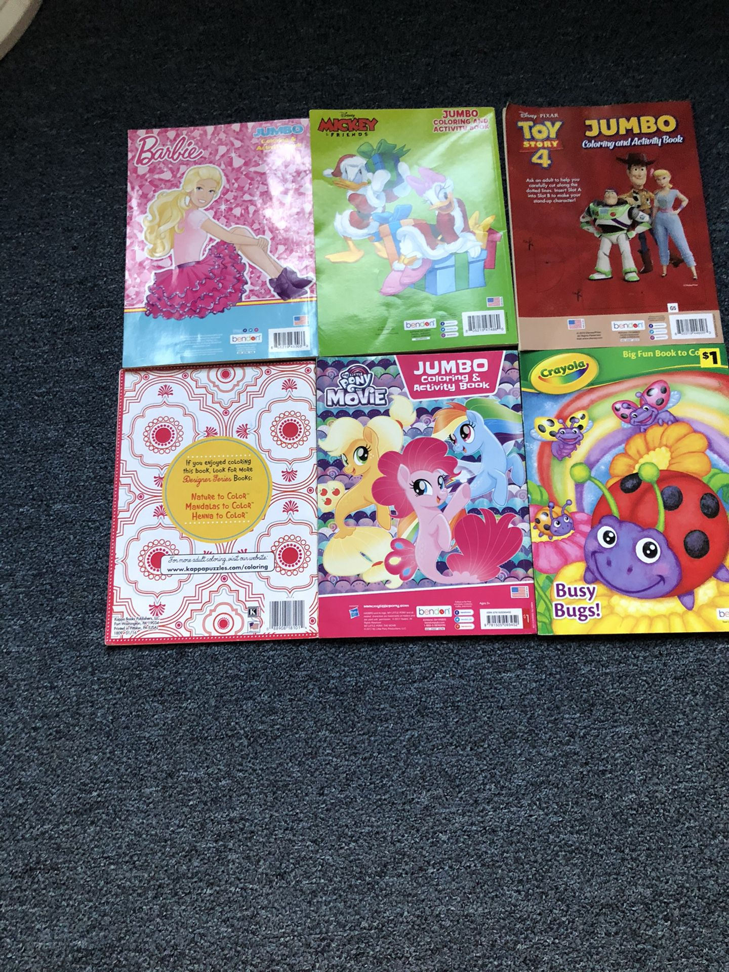 Coloring and activity books $1.00 each