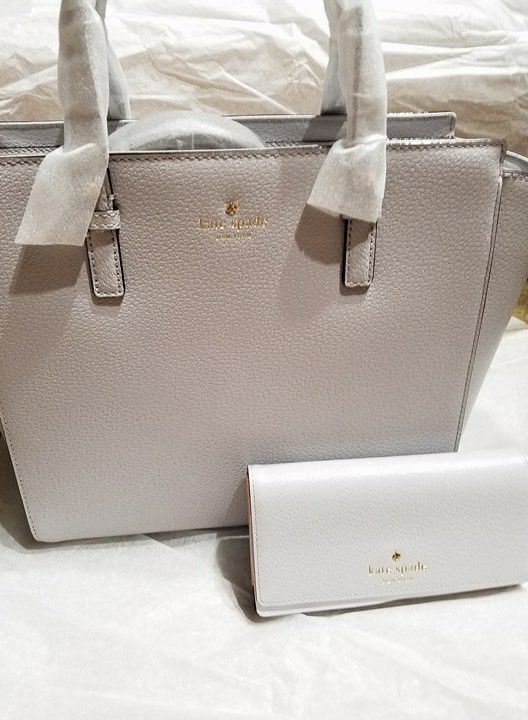 633ca28c9 NWT NEVER USED **KATE SPADE GRAND STREET HAYDEN CROSSBODY BAG AND NIKA  WALLET*** STONE ICE