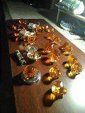 Amber Crystal Doorknob and Cabinet Sets for sale  Broken Arrow, OK