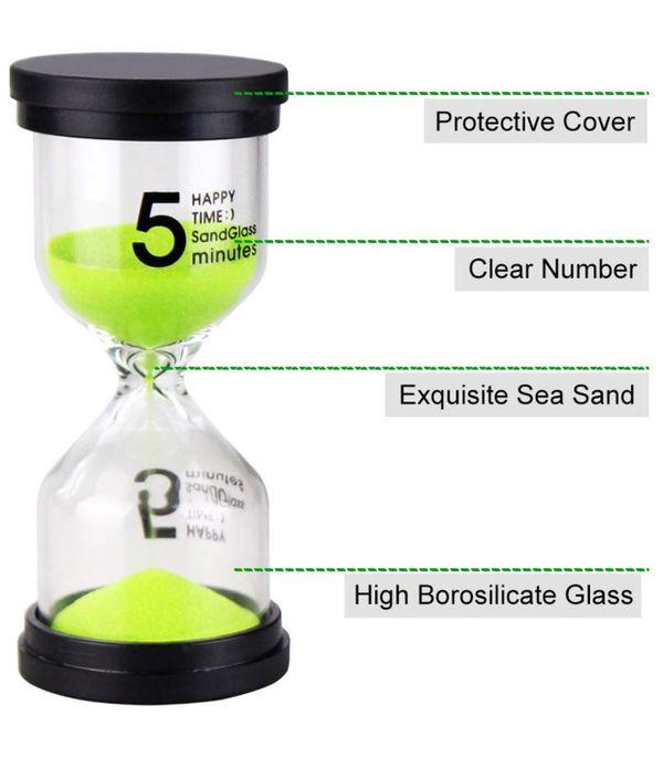 emdmak sand timer colorful hourglass sandglass timer 1 min 3 mins