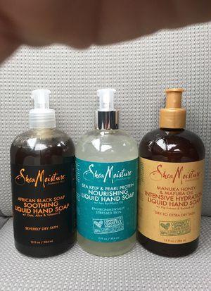 Set of 3 Shea Moisture liquid hand soap for Sale in Alexandria, VA