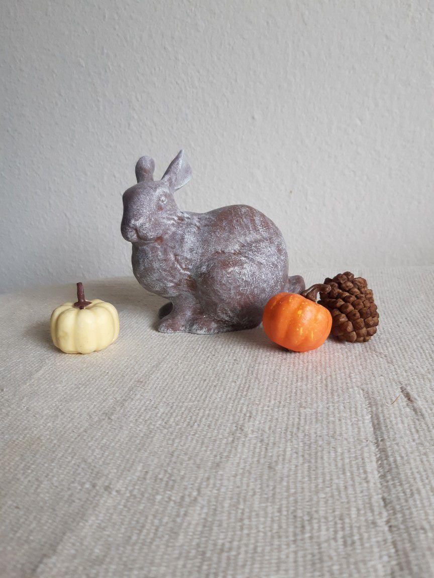 Adorable Little Fall Winter Ceramic Bunny