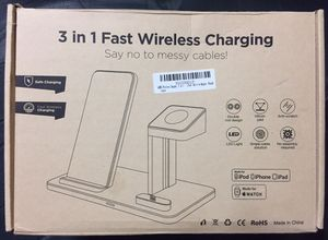 Photo 3 in 1 Aluminum Alloy Charging Station- Brand New